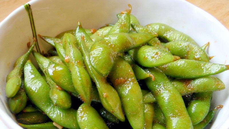 Saute Edamame In Butter And Garlic