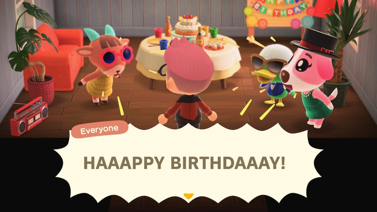 Thanks For The Lovely Birthday Party, Animal Crossing Friends