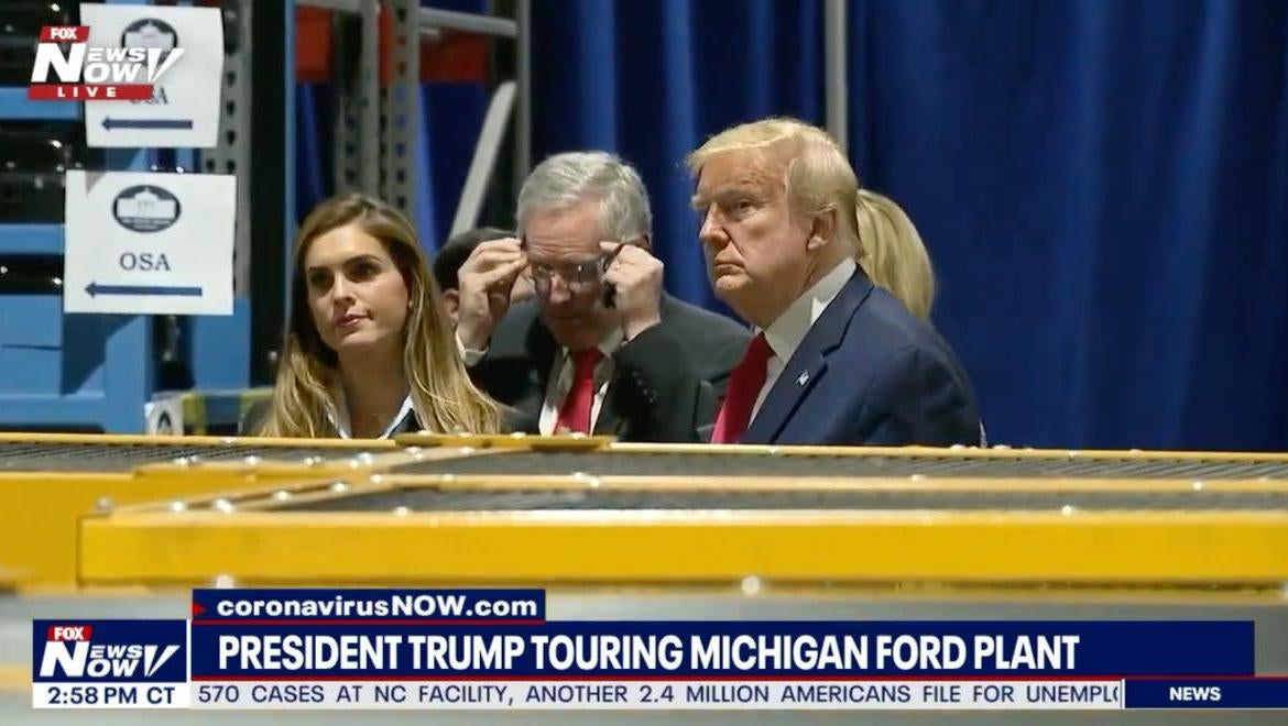 Ford Told Trump To Wear Mask During Factory Tour, Let Him Tour Factory Without One
