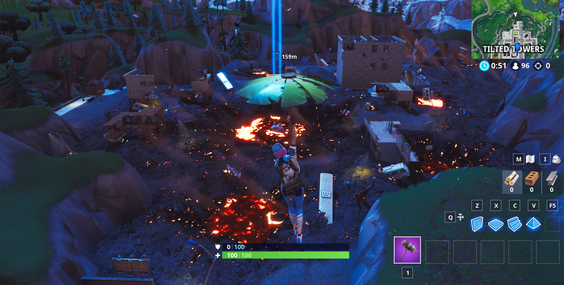 Fortnite's Vault Opens, Volcano Destroys Tilted Towers