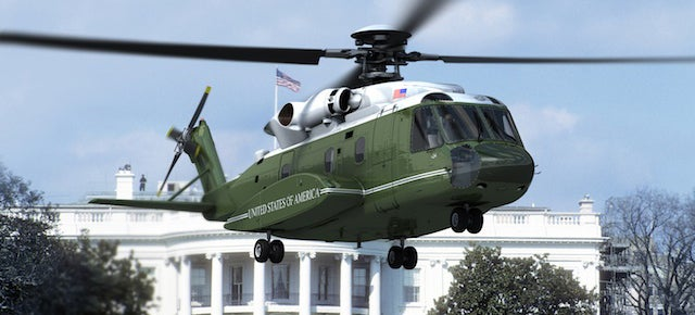 This is the new helicopter of the President of the United States