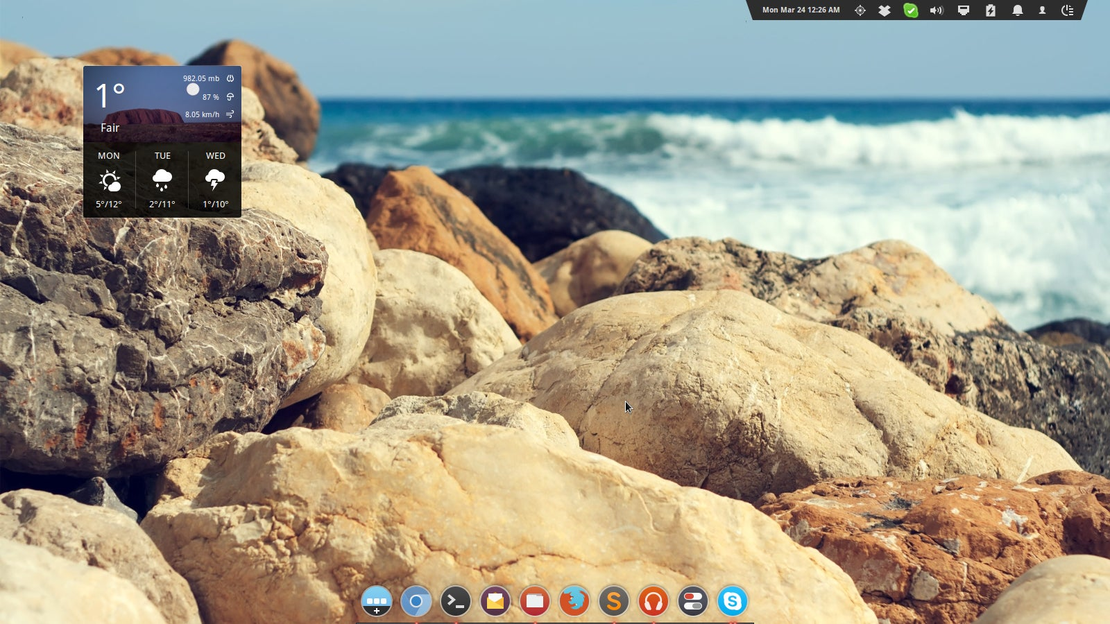 The Rocky Beach Desktop