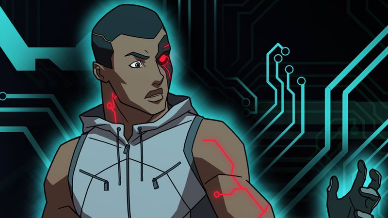 Here's Your First Look At Young Justice's Slick New Cyborg Design
