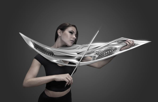 This 3D Printed Violin Looks Like A Klingon Weapon