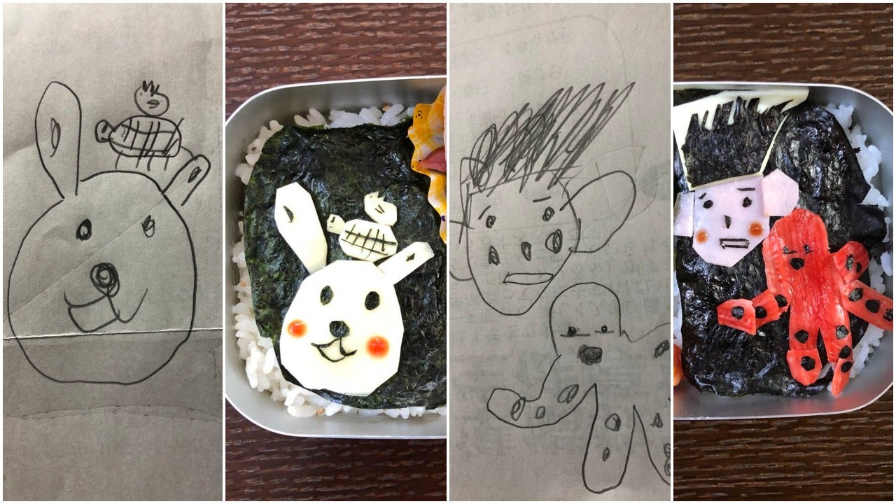 Dad Makes Cute Lunches Based On His Daughter's Drawings