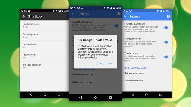 Google Starts Rolling Out 'Trusted Voice' Smart Lock Option