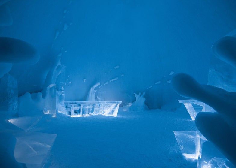 The 25th Anniversary Icehotel Features An Ice Movie Theatre