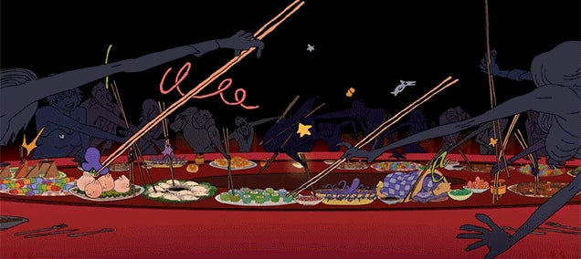 Fun Animation Perfectly Captures the Wild World of Eating Chinese Food at a Chinese Restaurant