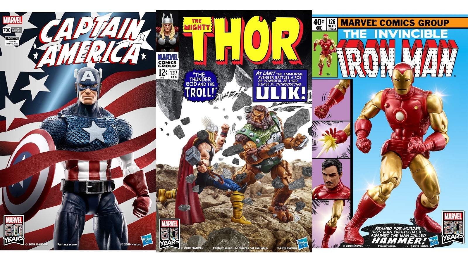 Hasbro Recreates Classic Marvel Comic Covers With Toys