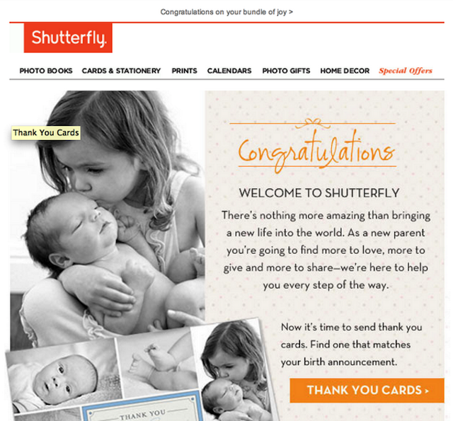 Shutterfly Just Congratulated Hundreds of Random Users on Having a Baby
