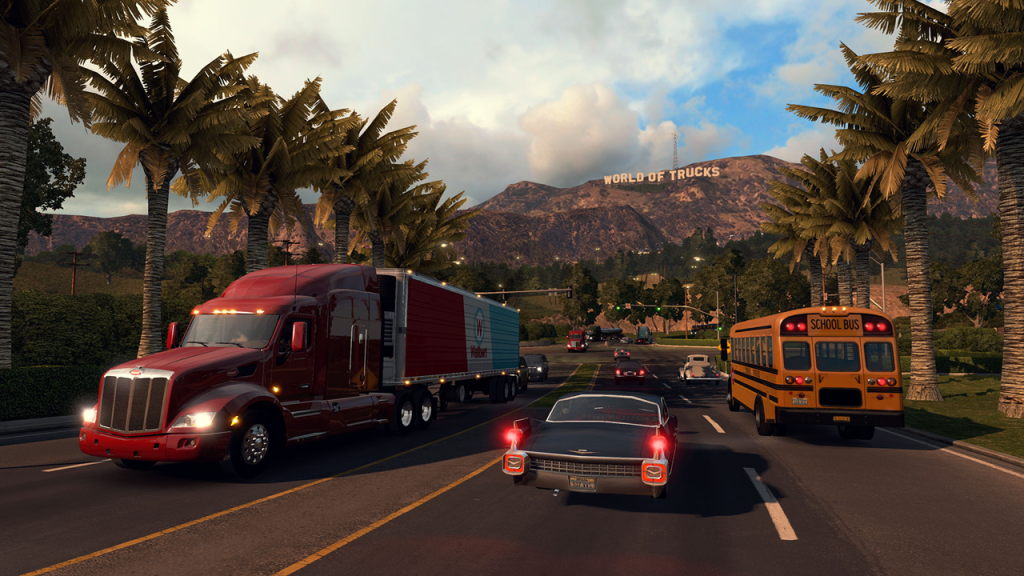 American Truck Simulator Impressions: I Nearly Crashed Into a Bus