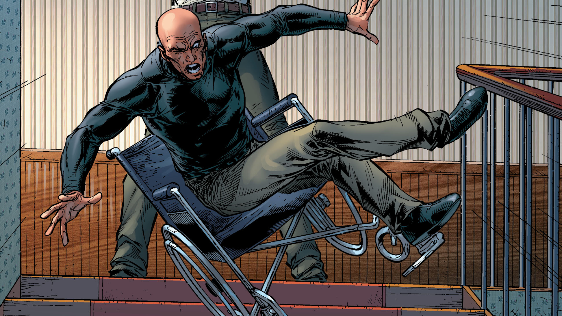 How Does X-Men's Charles Xavier Leave His Own House?