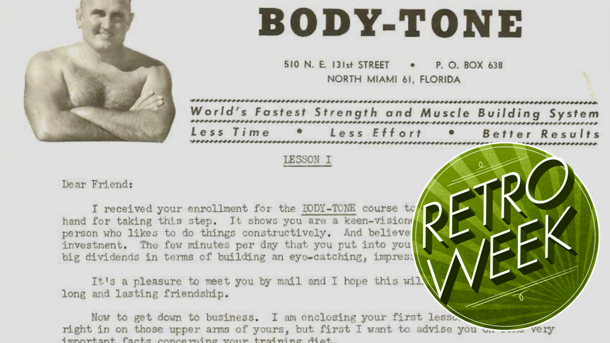 I Tried A Vintage Mail Order Bodybuilding Course And There's A Reason Nobody Does These Any More