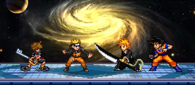 The Smash Bros. Where You Can Play As Sora, Naruto, Ichigo, or Goku