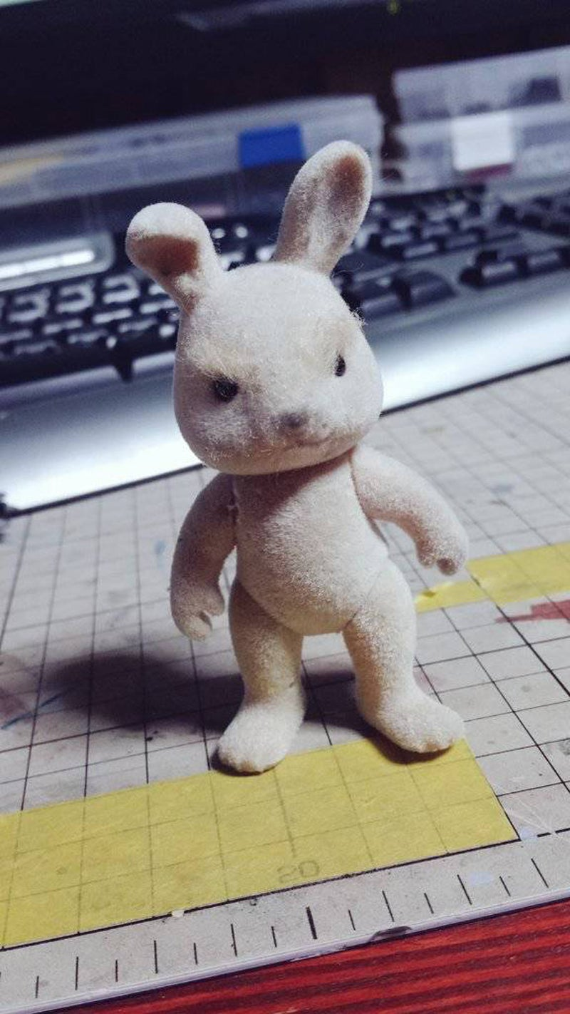 Guy Turns Cute Bunny Toy Into Battle-Hardened Mech