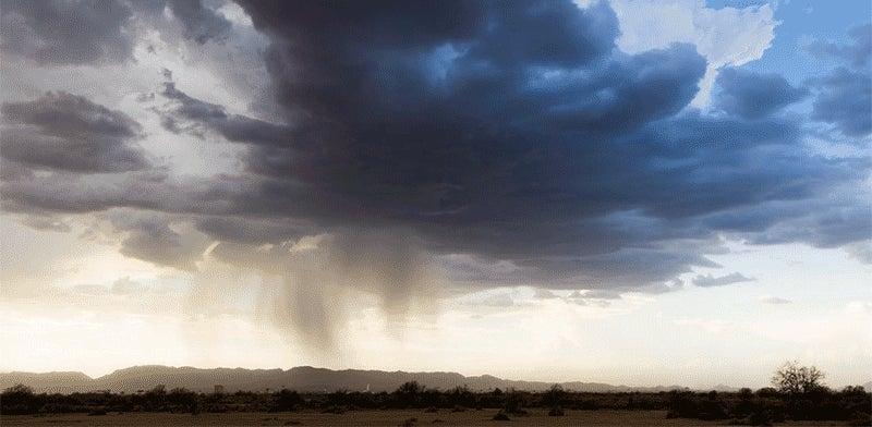 Spectacular Timelapse Footage Makes Storms Look Like Floating Waterfalls