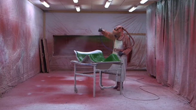 Watch How This Futuristic Fibreglass Chair Is Made By Hand