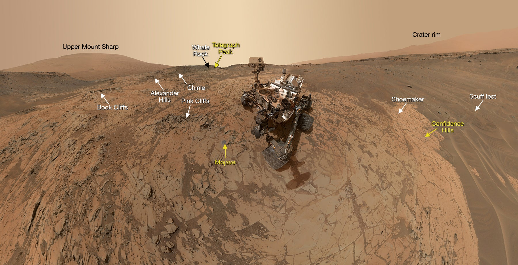 Check out the new (and coolest) Mars Curiosity panorama selfie