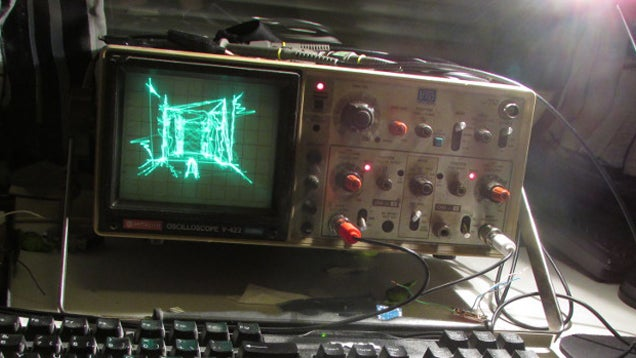 Quake Running On An Oscilloscope
