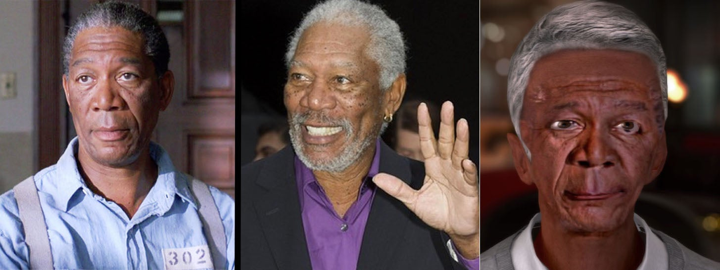 Morgan Freeman Becomes E.T. and Other Age-Prediction Software Horrors