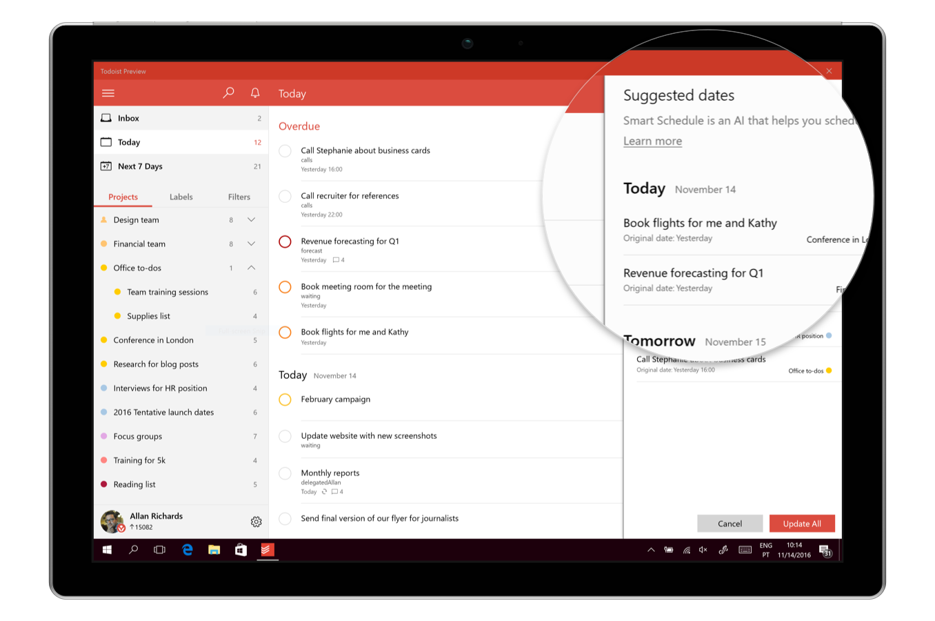 Todoist's Smart Schedule Suggests The Perfect Deadline For Your Tasks