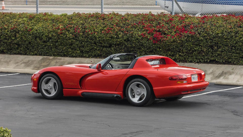 The Very First Dodge Viper, Owned By Lee Iacocca, Sells For $415,500
