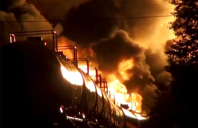 Terrifying documentary on the fire bombs roaming America's railroads