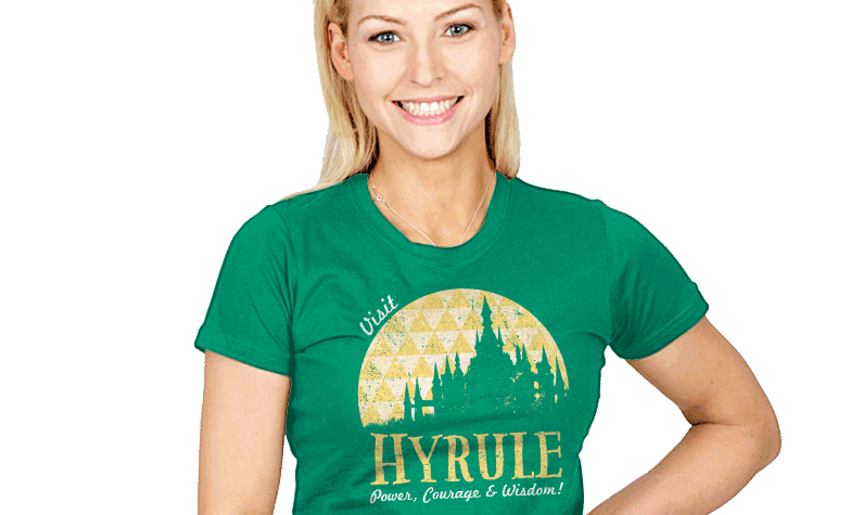 You Can Be A Hyrule Tourism Billboard With This T-Shirt