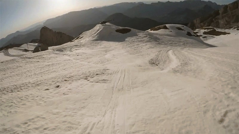 If This Skier Was Any Less Talented, He'd Probably Be Dead