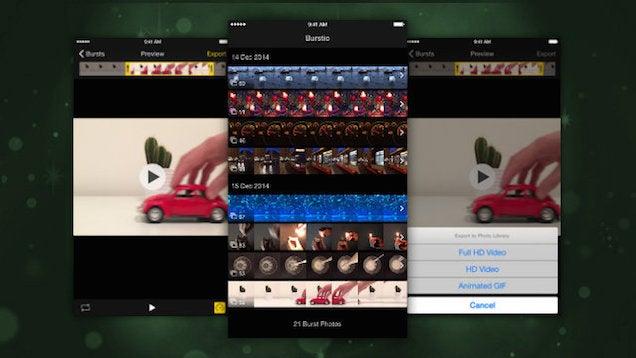 Burstio Turns iOS Burst Photos Into GIFs
