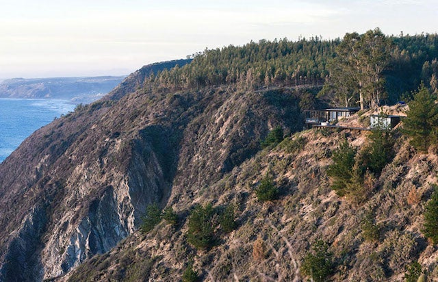 Perfect home perched on a cliff is made of dreams of quiet, food and sex