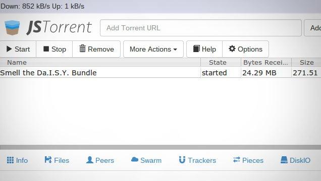 JSTorrent Downloads Torrents On A Chromebook