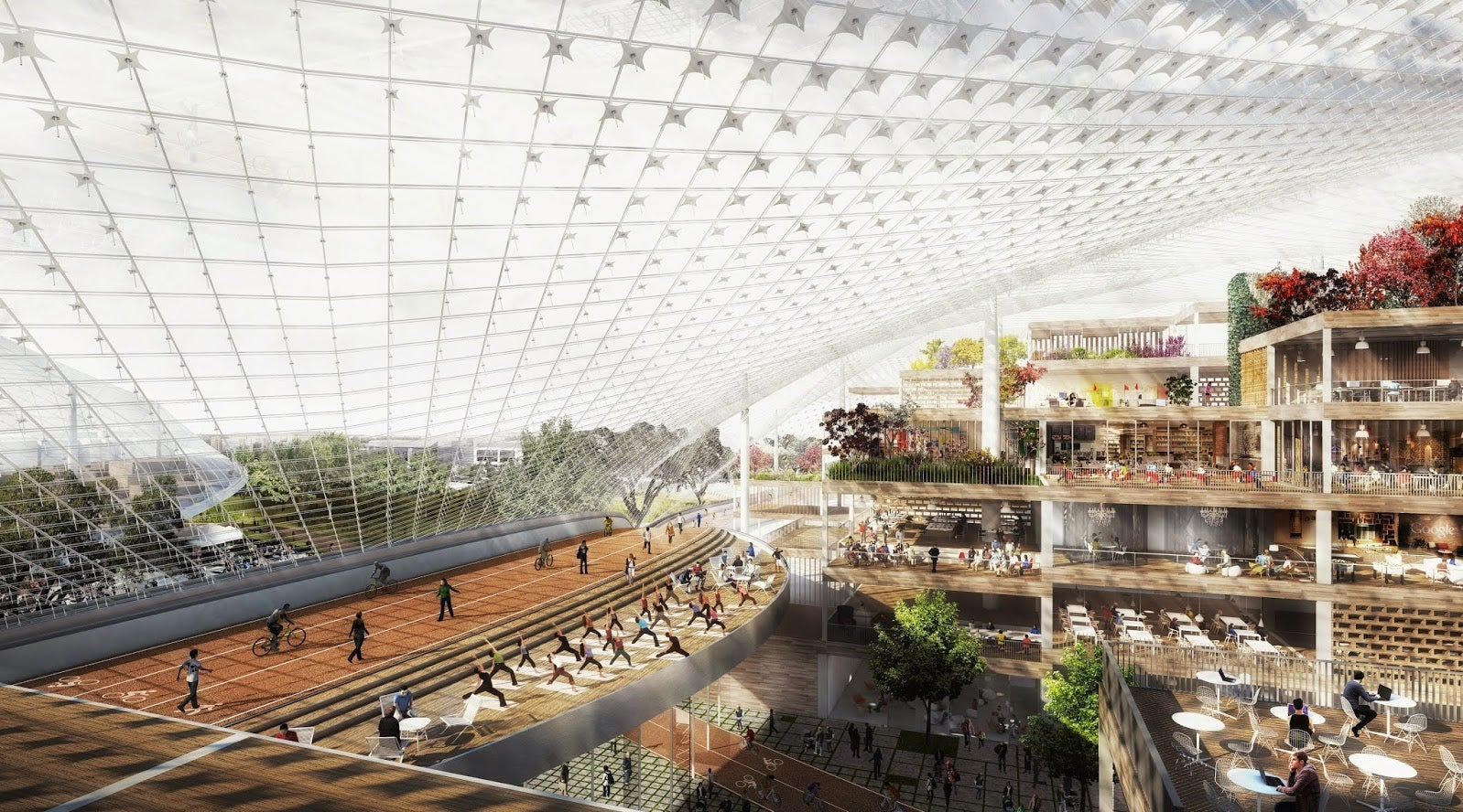 Google's Crazy New Campus Will Be Covered In Giant Canopied Domes