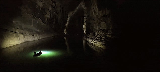 Exploring One of the Largest River Caves in the World Is Like Exploring an Alien World