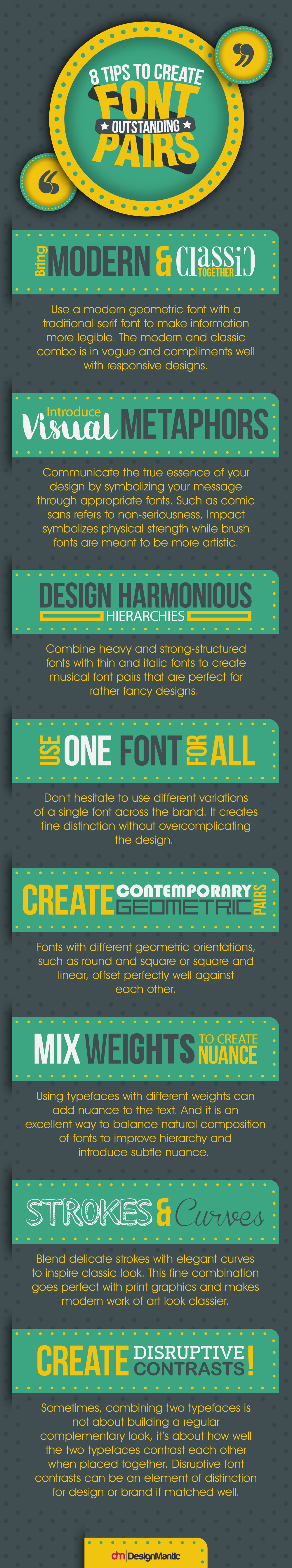 This Graphic Shows How to Pair Multiple Fonts Together For Better Designs