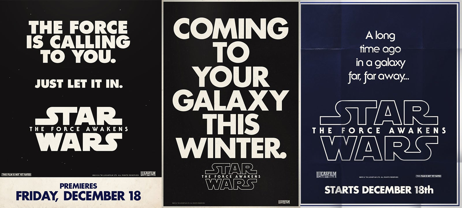 Retro-Style Ads For The Force Awakens Dials the Hype Up to 11