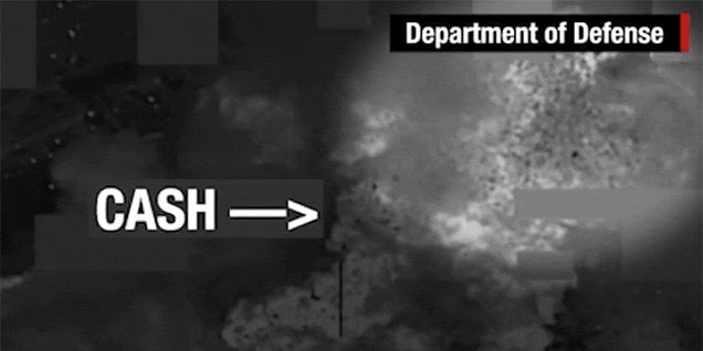 US Bombing of ISIS Cash Depot Sends Money Flying Everywhere