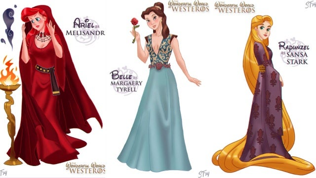 What Disney Princesses would look like as Game of Thrones characters