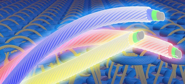 These Light-Emitting Fibres Could Make Fabrics That Glow