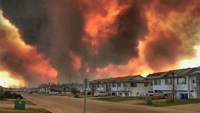 Terrifying Wildfires Prompt the Evacuation of an Entire Canadian City
