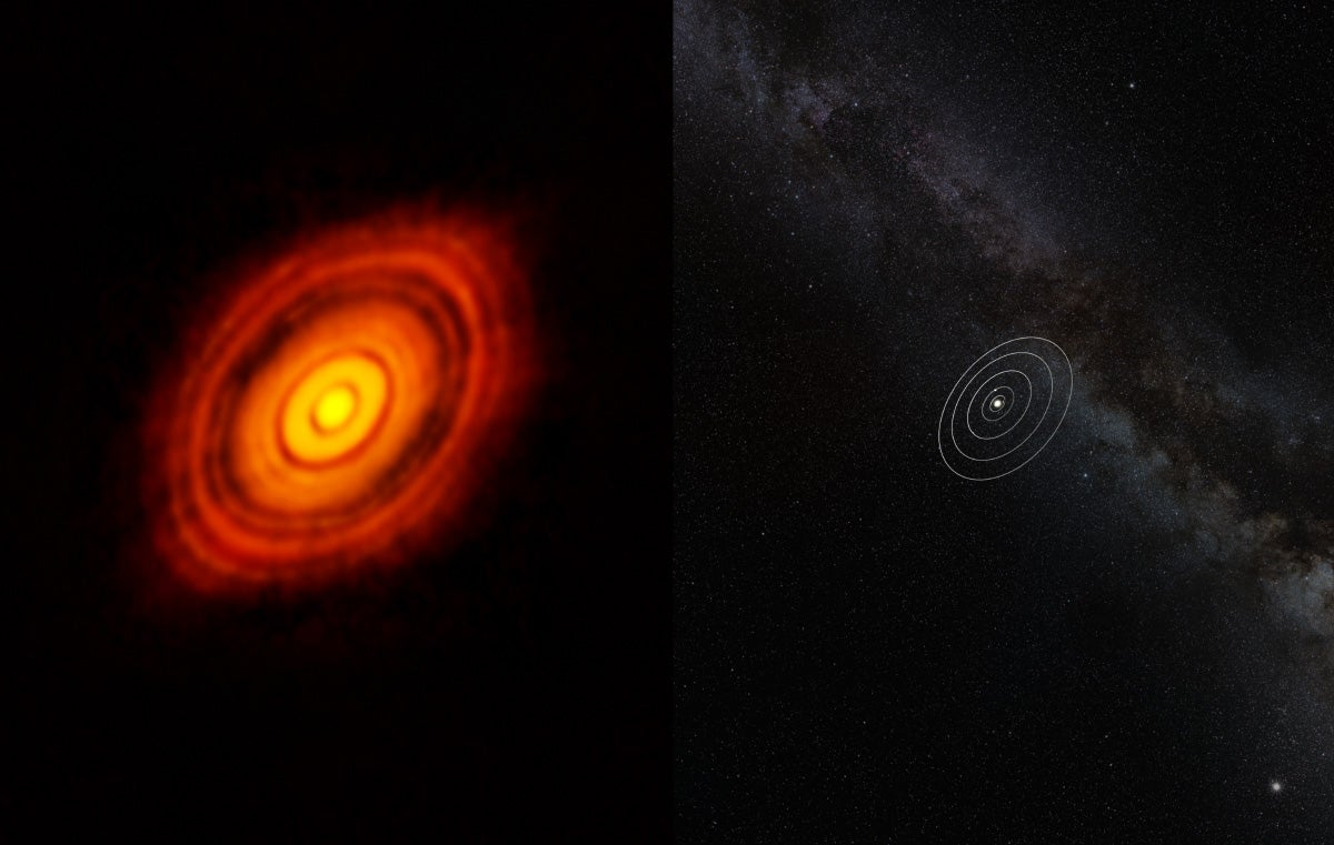 Revolutionary photo clearly shows star system forming for the first time