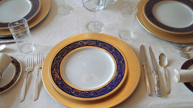 Find Your Bearings at a Formal Dinner Table with the