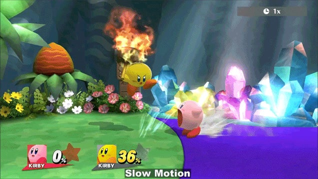 Smash Bros. Glitch Sets Kirby On Fire