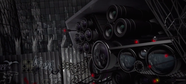 The drones and cameras in this dystopian animation are horrifying