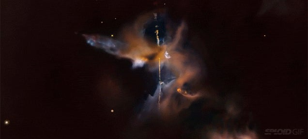 Gorgeous Hubble Flyby Reveals a Lightsaber in Space