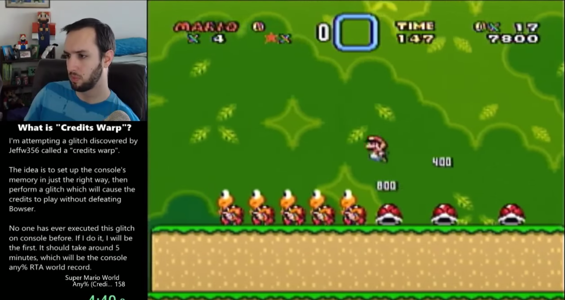 Near-Impossible Super Mario World Glitch Done For First Time on SNES