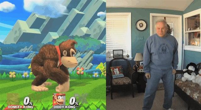 Goofy Dad Recreates Smash Bros. Taunts, Nails It