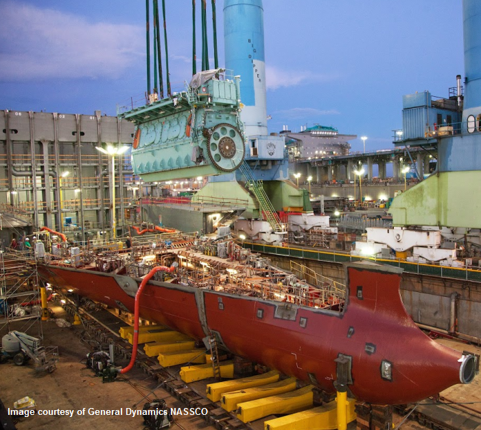 Here's a Natural Gas-Powered Cargo Ship Getting Its 539-Ton Engine