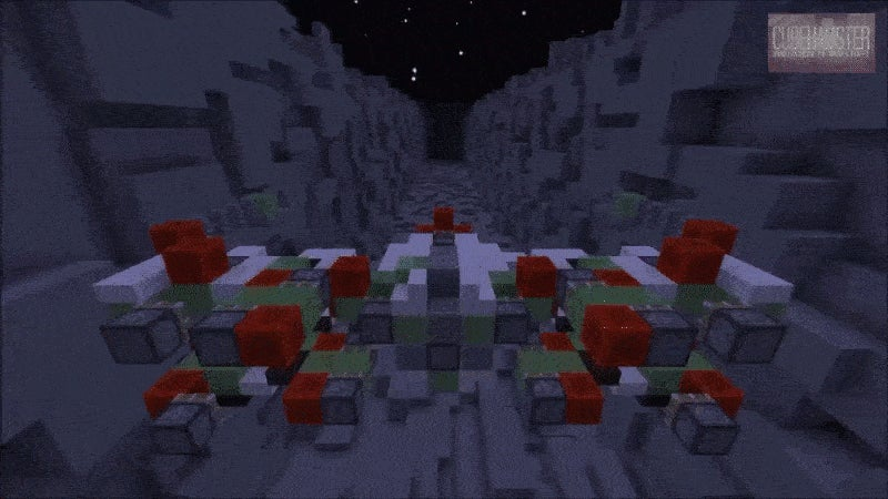 A Minecraft X-Wing, On Its Way to Blow Up the Death Star