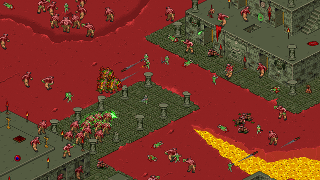 Doom As An Isometric Shooter